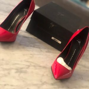 Red Guiseppe Pumps